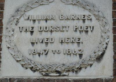 William Barnes Plaque